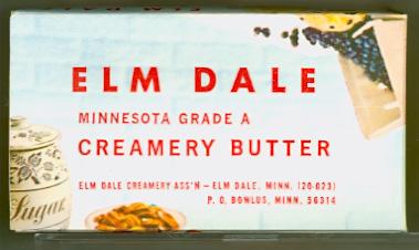 Elm Dale Creamery Associaton Butter Box - Side One