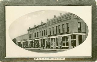 The Best Business Block in Little Falls, Minn. - 1912