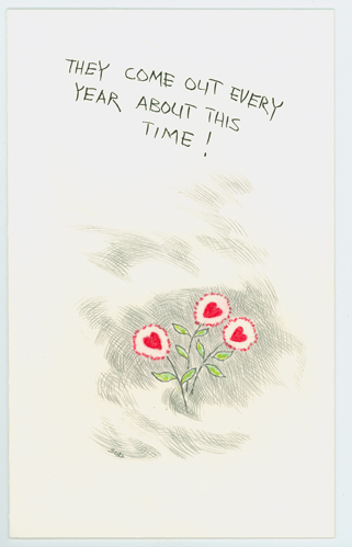 Valentines Day Card by Wes Sod, February 1979