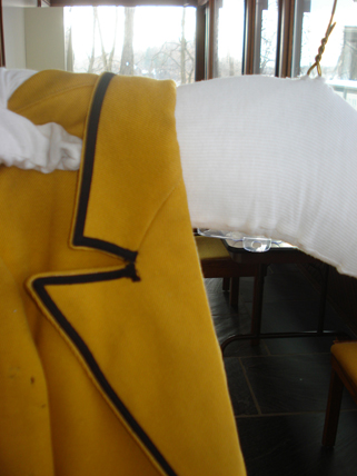 When storing clothing, its important to give it support. We use padded hangers for the uniform jackets. January 20, 2010.