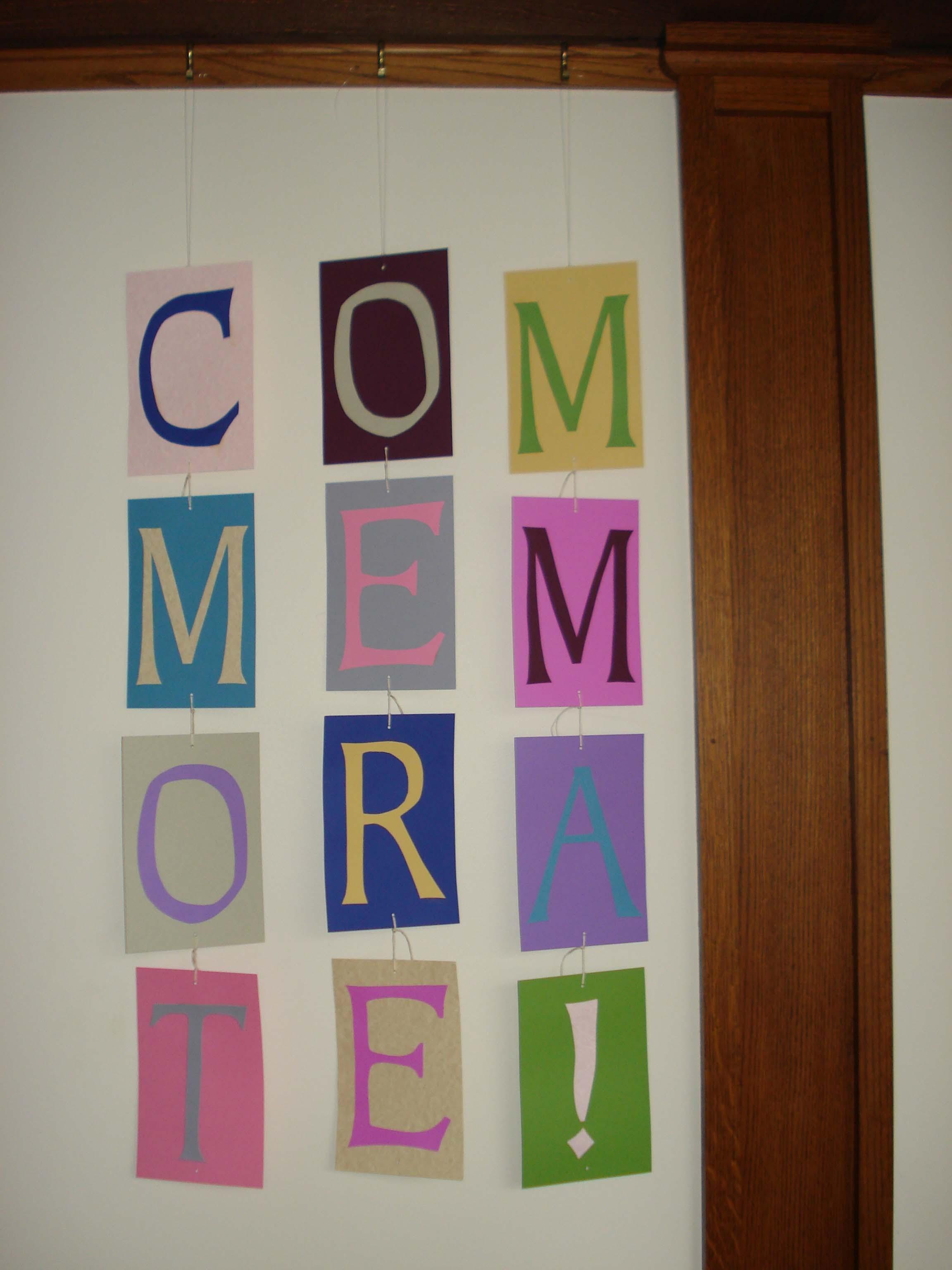 Commemorate Exhibit Sign, MCHS, 2008