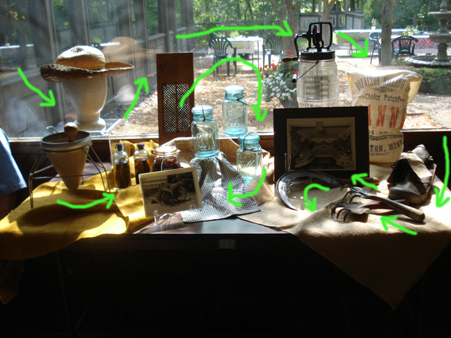 Visual flow around the exhibit.