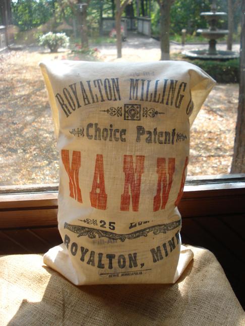 ... in a flour sack.
