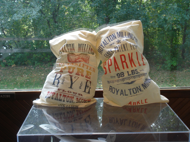 Royalton flour sacks on display during Garden Gala, September 13, 2009
