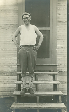 Otto Lauerman, brother of Alfred - photo from the Lauerman collection at the Morrison County Historical Society. Undated, c. 1940s.