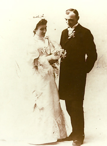 John Vertin & Agnes Miller wedding photo, November 27, 1894, photo from the Morrison County Historical Society collections.