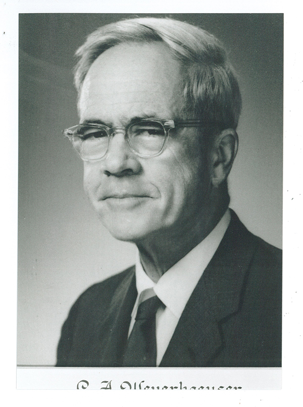 Carl A. Weyerhaeuser (1901-1996) was born in Little Falls, Minnesota, to Charles and Maud Moon Weyerhaeuser. The Carl A. Weyerhaeuser History Awards were established through a gift given by Mr. and Mrs. Robert J. Sivertsen in memory of Carl. Mrs. Sivertsen was Carl's sister.